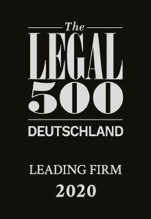 The Legal 500 Deutschland | Leading Firm 2020